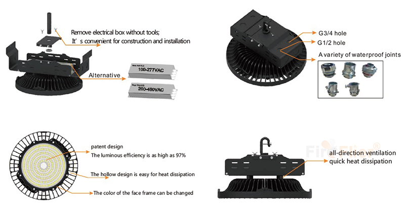 features of LED Warehouse light
