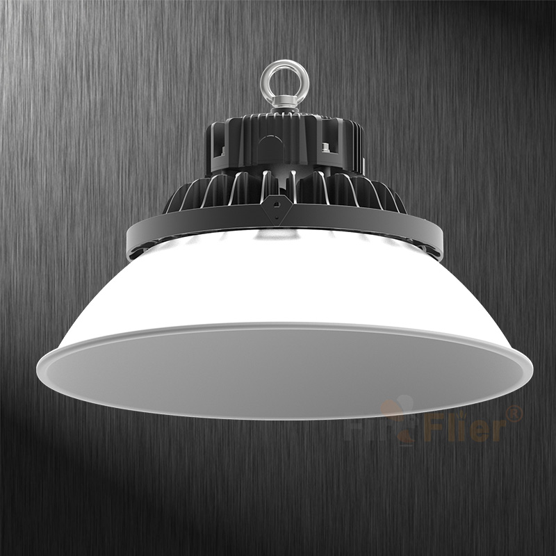 LED High bay fixture with aluminum lampshade