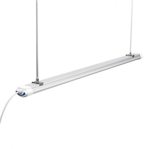 LED Vapor tight fixtures with hanging rod